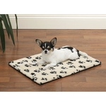 Slumber Pet Thermo Pawprint Crate Mats - Ivory