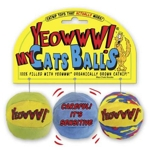 YEOWWW 3 balls m catnip