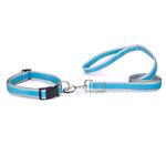 Reflective Neoprene Dog Leads - Blue